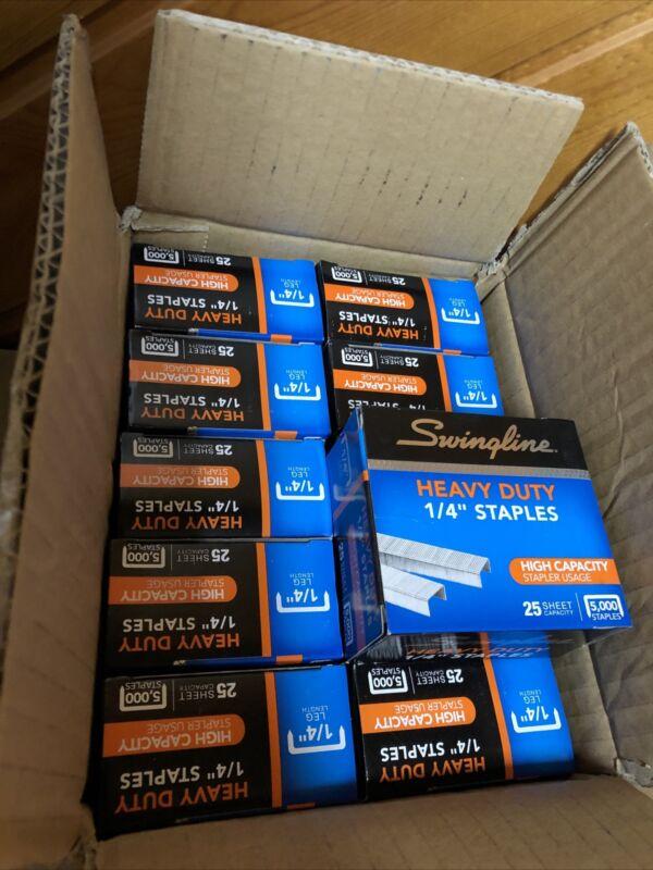 Lot Of 10 Swingline Heavy Duty Staples 25 Sheet Capacity 5000/Box New