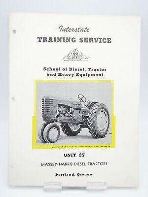 1954 Interstate Training Service Manual 27 Massey Harris Diesel Tractors