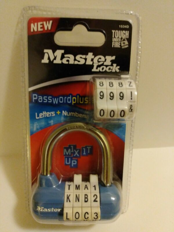 New..Master Lock Password Plus Letters + Numbers - Mix It Up - 1534D