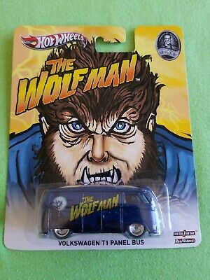 2013 Hot Wheels Pop Culture VOLKSWAGEN T1 PANEL BUS The Wolf Man EXCELLENT CARD