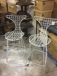 2 Metal Designer Stools Petersham Marrickville Area Preview