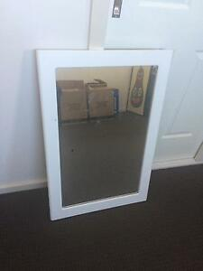 White timber mirror Spotswood Hobsons Bay Area Preview