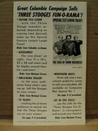 1959 Three Stooges Fun O Rama Pressbook Joe Besser 3 Stooges Press Book