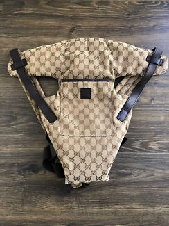 Authentic Gucci GG canvas baby carrier