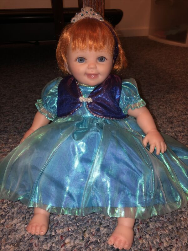 """Cheryl Hill """"ANNA"""" Outfit Disney Frozen Doll Music Motion Silicone Life Like"""