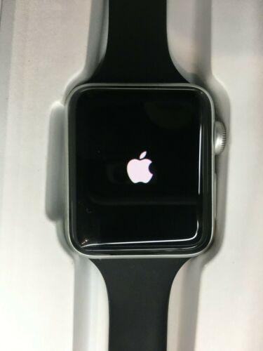 Apple Watch Series 3 38mm Aluminum Case Black Sport Band - WR-50M