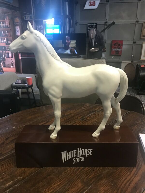 Vintage large White Horse Whiskey Advertisement