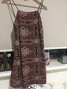 don't ask amanda maroon patterned dress Karrakatta Nedlands Area Preview
