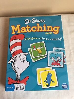 2014 New In Box Sealed Dr. Seuss Matching Game Wonder Forge Preschool Classroom