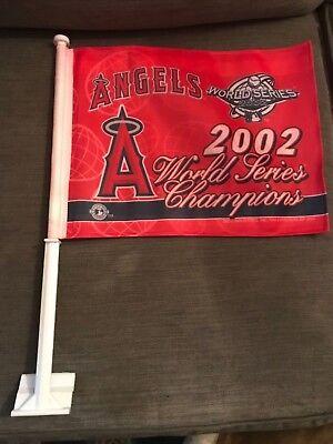 BRAND NEW ANAHEIM ANGELS 2002 WORLD SERIES CHAMPIONS CAR (Anaheim Angels Car Flag)