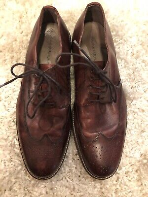 Banana Republic Brown Leather Wingtip Oxfords Brown Leather Mens Size 11