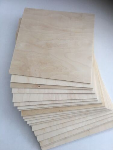 "40 Pieces 1/8"" (3mm) x 8.5"" x11"" Baltic Birch Plywood for CNC, Laser, Scroll Saw"