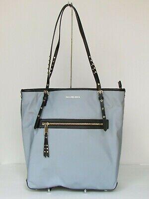 NEW Michael Kors Leila Pale Blue Nylon Large Tote Shoulder Handbag
