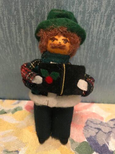 VINTAGE SARAKIM CHRISTMAS CAROLER MAN FIGURE DOLL ORNAMENT