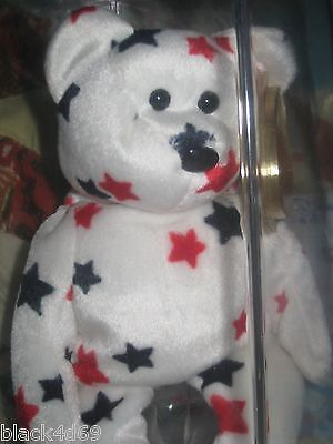 Authenticated Rare GLORY the BEAR (ODDITY w/ NO FLAG) - TY BEANIE BABY on Rummage