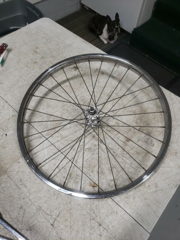 1966 SCHWINN STINGRAY FASTBACK 5 SPEED SPRINT CHROME FRONT RIM CENTER STAMPED