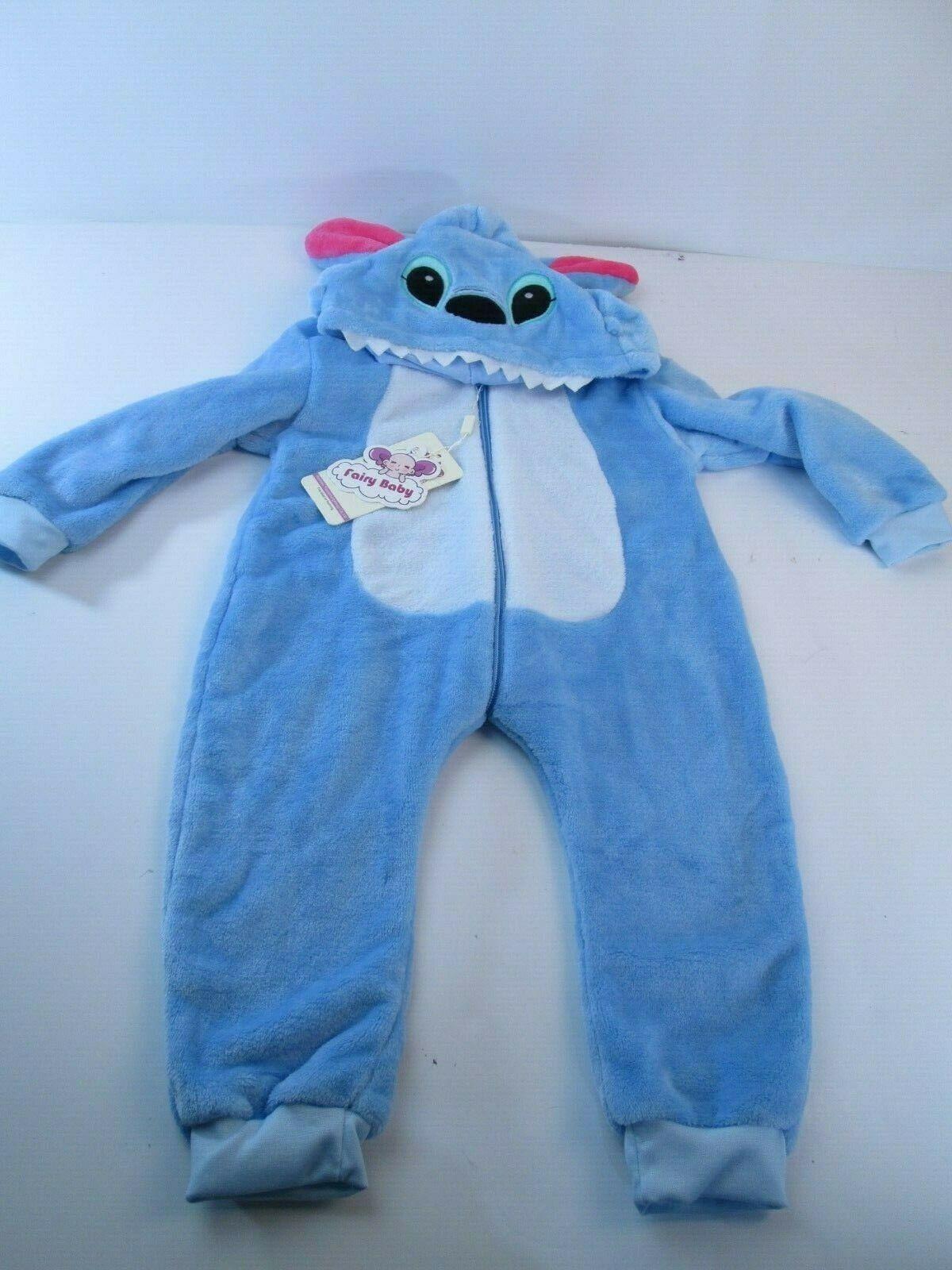 Toddler Suit Unisex Cosplay Animal Costume Warm Fleece Blue