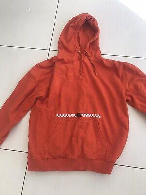 Orange Vans Hoodie Jumper Size M