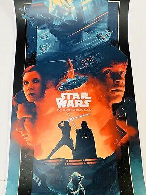 Star Wars Poster Empire Strikes Back John Guydo Movie Print #d Han Solo Luke