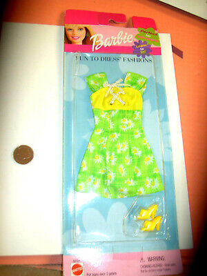 BARBIE VINTAGE 90'S  FUN TO DRESS FASHION SET NEW MOV FROM UK G