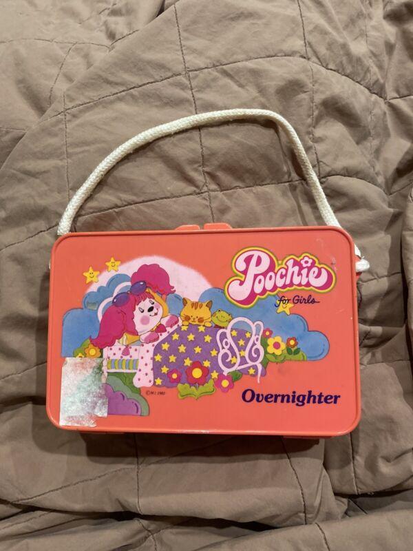 Poochie Dog Hot Pink Plastic Overnighter Purse 1982 Vintage
