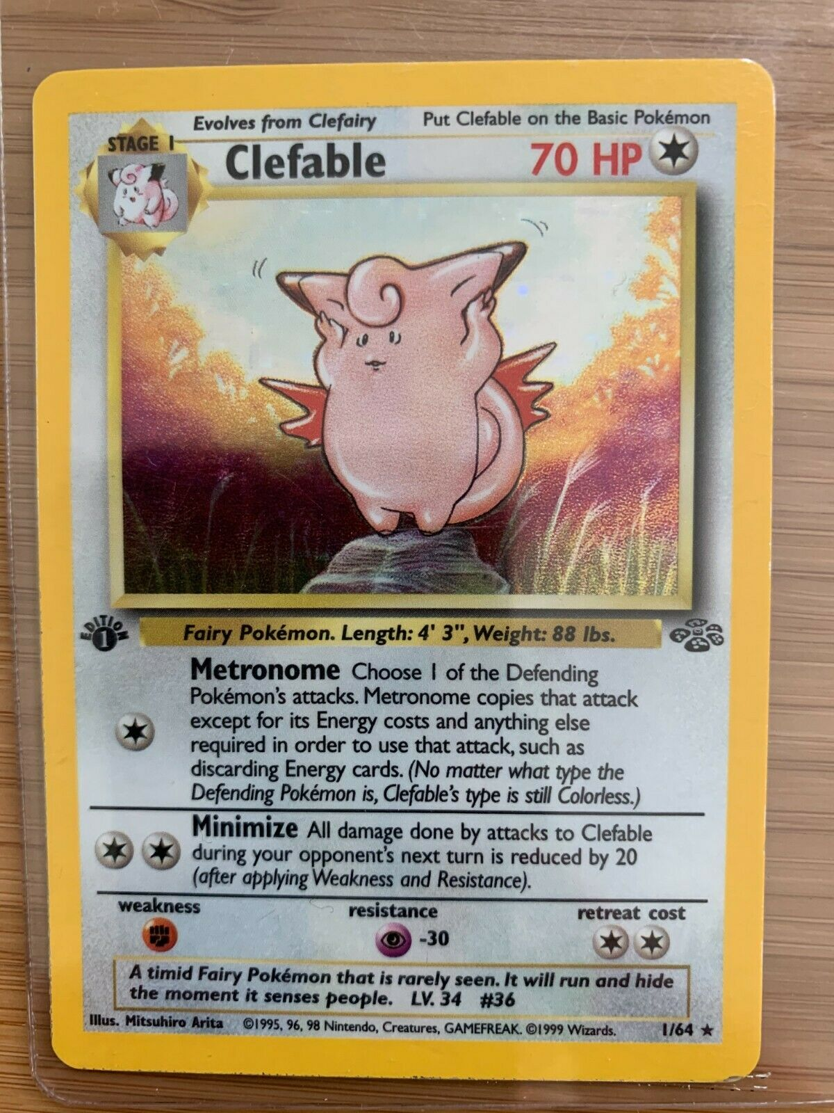 CLEFABLE - 1/64 - 1st Edition Jungle - Holo - Pokemon Card - $99.00
