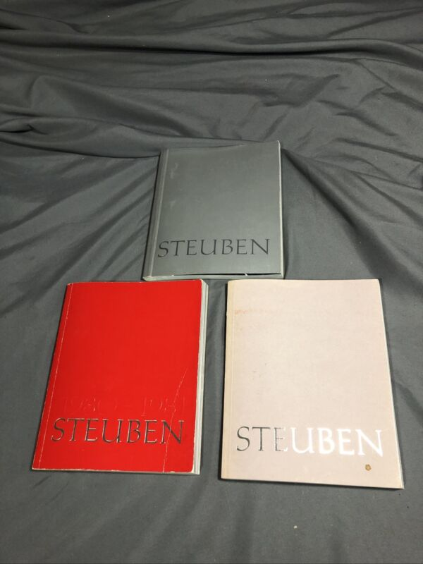 Steuben Glass Sales And Identification Books (3)