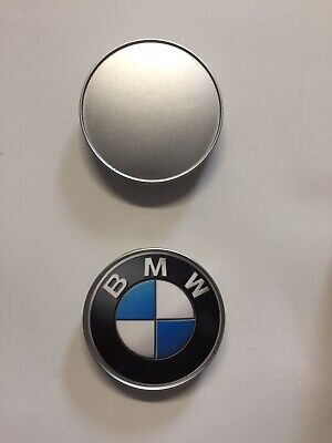 4x BMW ALLOY WHEEL CENTRE CAPS BADGE 68mm FITS 1, 3, 5, 6, 7. Badge Only!!