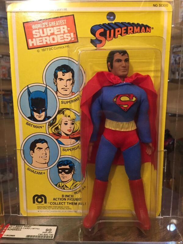 1977 MEGO WGSH DC Comics Card (1977C) SUPERMAN AFA 90 (90, 90, 90) All 90's!