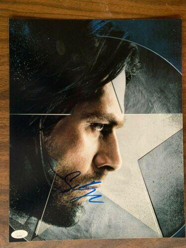 Captain America Sebastian Stan Autographed Signed 11x14 Photo JSA COA #4