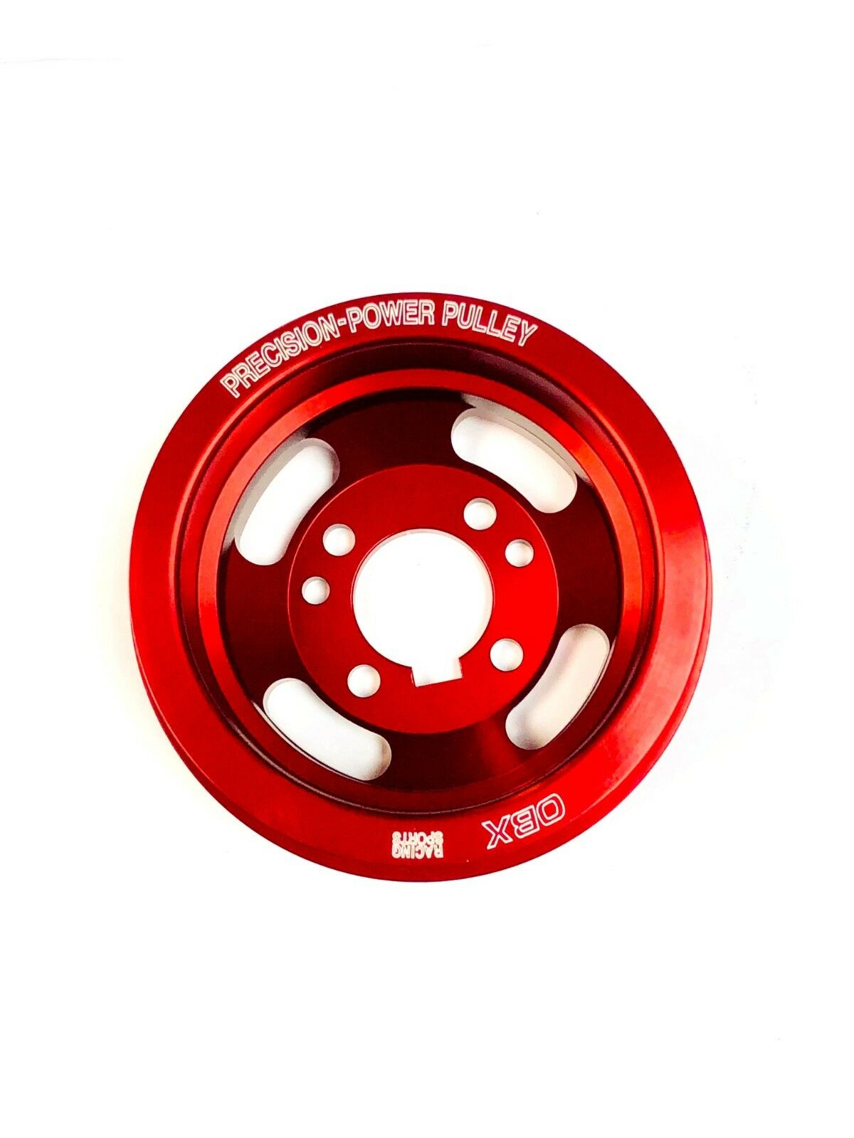 OBX Underdrive Crank Pulley For 1991 To 1992 Ford Escort GT LE-X 1.8L Red