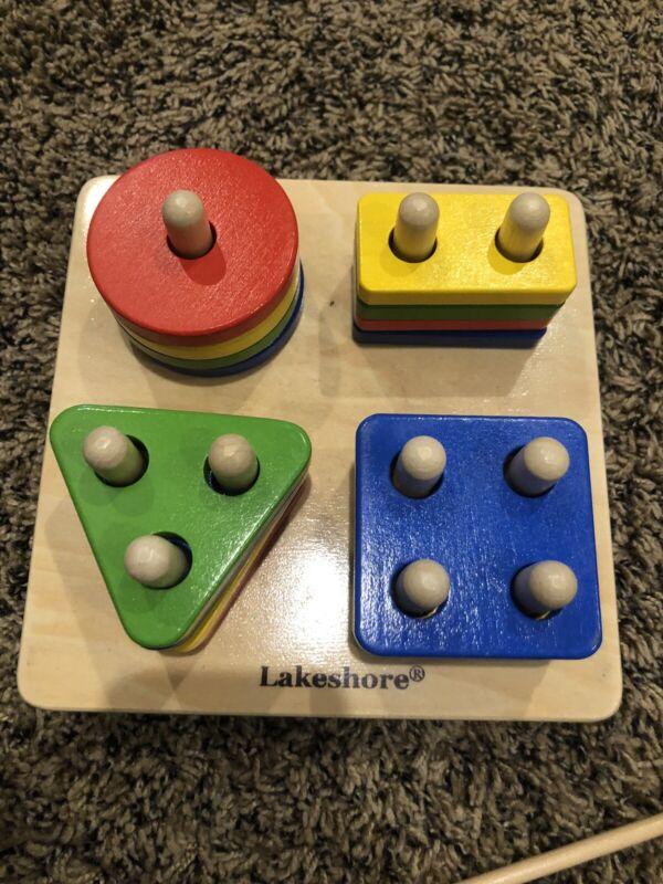 Sort-A-Shape Shape Sorter Activity Board Lakeshore Learning Colorful