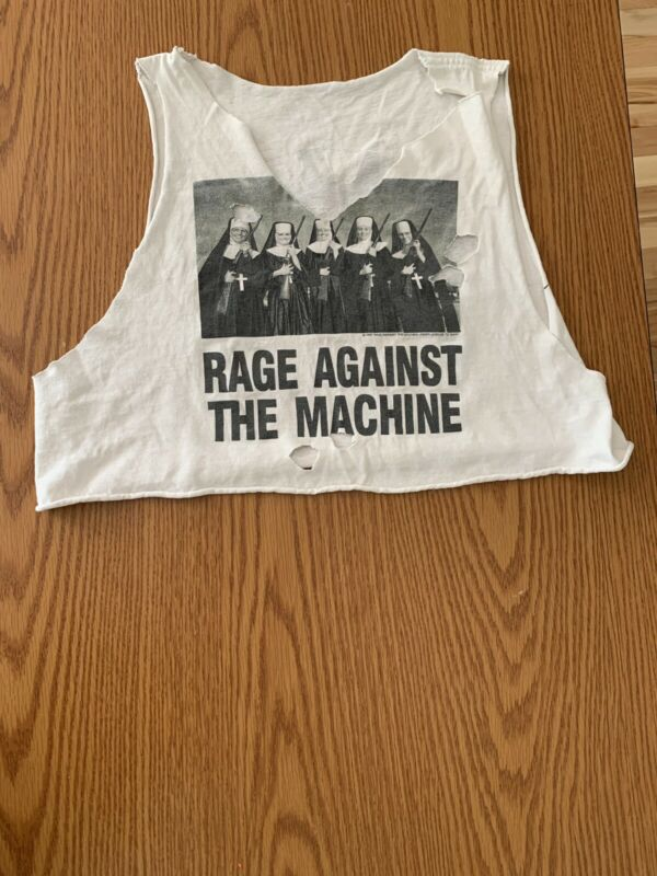 Vintage 1997 Rage Against The Machine Nuns/Guns Evil Empire Rare Crop Top
