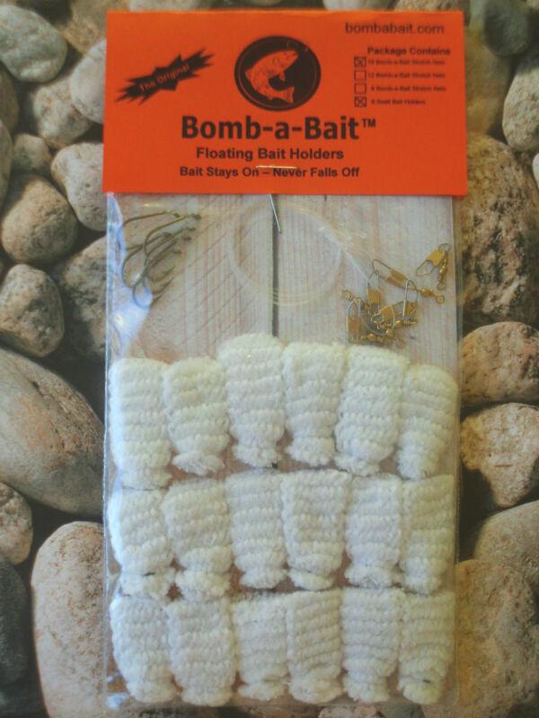 TROUT 24 Piece Floating Bait Holder~ BOMB-A-BAIT™ (Catch More Fish!)