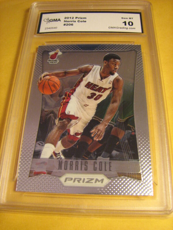 NORRIS COLE HEAT 2012 PRIZM ROOKIE RC # 206 GRADED 10
