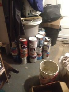 Paint, almost full cans
