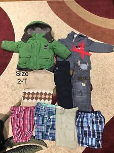 Brandnew and barely used boys multiple sizes clothes