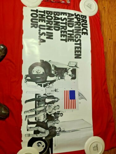 Bruce Springsteen Born in the USA poster   23 inches high by 47 inches long