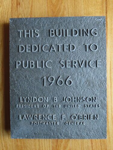1966 Post Office Building Dedication LYNDON JOHNSON LAWRENCE O