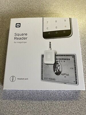 Set Of 5 Square Credit Debit Card Readers - White For Apple Iphone And Android