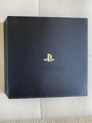 Sony PlayStation 4 Pro 1TB Console Jet Black + 2 OEM Controllers + 10 Games!