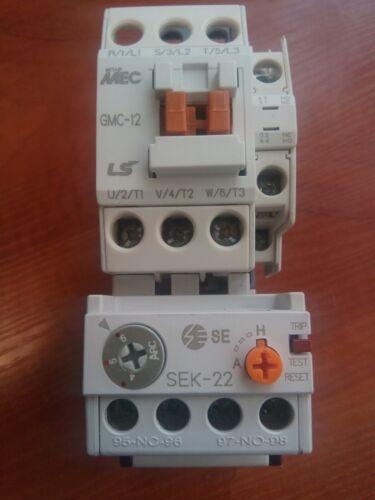Original LS GMC-12 Contactor 5.5kW 12A Coil AC230V + Overload Relay SEK-22(4-6)A