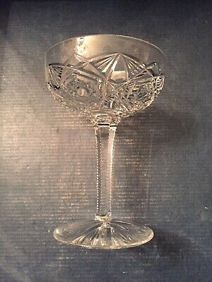 Antique Baccarat Crystal - LAGNY Champagne Saucer - Tall Sherbet Glasses -