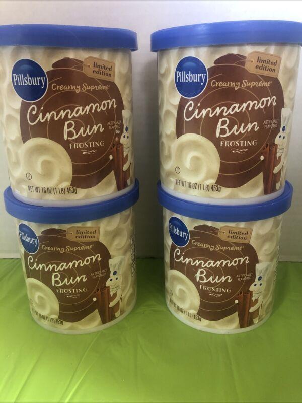 4x- Pillsbury Limited Edition Creamy Supreme Cinnamon Bun Frosting 1lb EACH