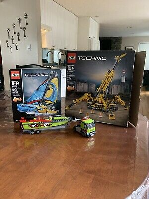Lego 42097 Technic 10+ Compact Crawler Crane + 42074 And An Extra Truck And Boat