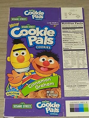 Vintage Sesame Street Cookie Pals Cinnamon Graham Empty Box