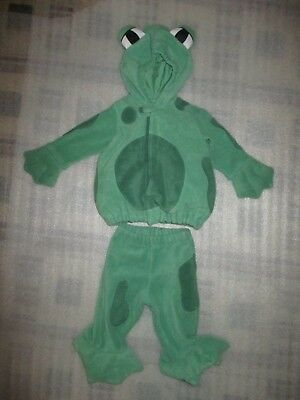 Old Navy Baby Toddler Boy Girl Halloween Costume Green Frog Fluffy Belly 12-18M