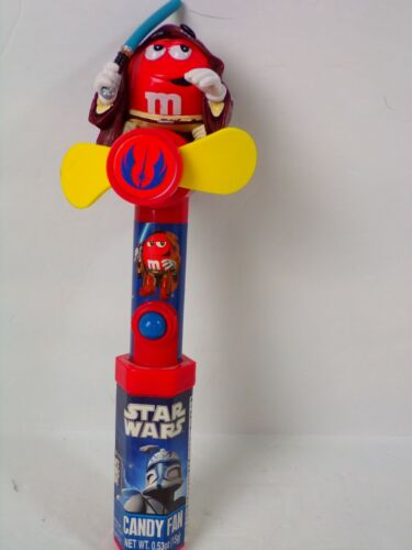 Lot of 2 M&M Star Wars AND red white blue Candy Dispensers with fans