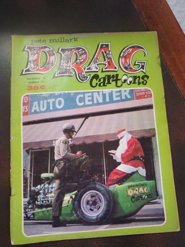 Pete Millar's Drag Cartoons Dec. 1965 No. 22 Magazine