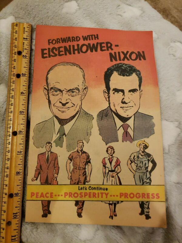 Eisenhower - Nixon Republican Political Advertisement Comic